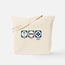 Eat Sleep Plastic Surgery Tote Bag