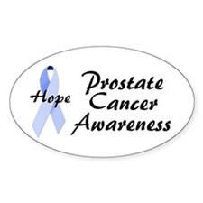 Prostate Cancer Awareness Oval Decal