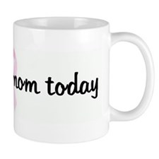 I miss my mom today pink ribb Small Mug