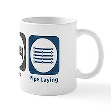 Eat Sleep Pipe Laying Mug