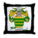 Rivera Family Crest Throw Pillow