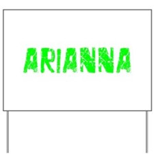 Arianna Faded (Green) Yard Sign