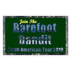 Barefoot Bandit Tour Rectangle Decal