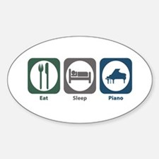 Eat Sleep Piano Oval Decal
