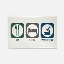 Eat Sleep Physiology Rectangle Magnet