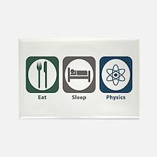 Eat Sleep Physics Rectangle Magnet