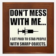Stab Syringe Medical Framed Tile