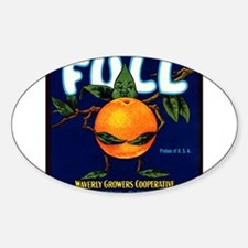 Full Oranges Oval Decal