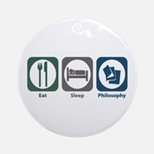 Eat Sleep Philosophy Ornament (Round)