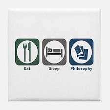 Eat Sleep Philosophy Tile Coaster