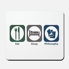 Eat Sleep Philosophy Mousepad