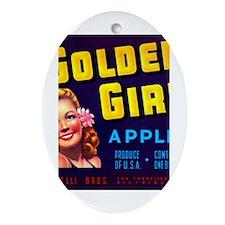 Golden Girl Oval Ornament
