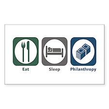 Eat Sleep Philanthropy Rectangle Decal