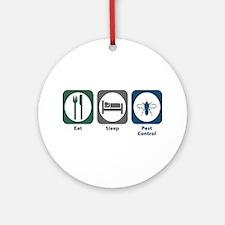 Eat Sleep Pest Control Ornament (Round)