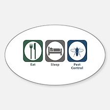 Eat Sleep Pest Control Oval Decal