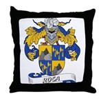 Roca Family Crest Throw Pillow
