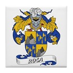 Roca Family Crest Tile Coaster