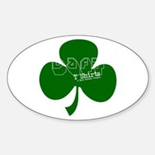 Represent! Daft Irish Logo Oval Decal