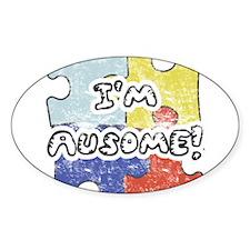 I'm Ausome Oval Bumper Stickers