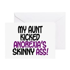 Kicked Anorexia's Ass 1 (Aunt) Greeting Card