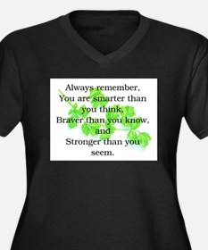 ALWAYS REMEMBER.. Women's Plus Size V-Neck Dark T-