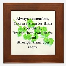 ALWAYS REMEMBER.. Framed Tile