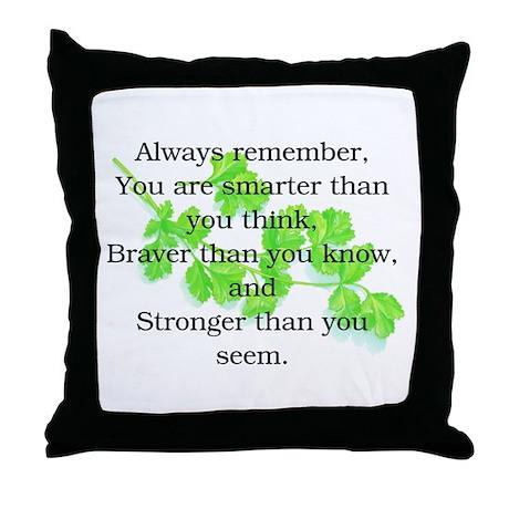 ALWAYS REMEMBER.. Throw Pillow