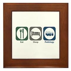 Eat Sleep Pedology Framed Tile