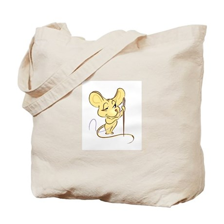 Sewing Mouse - Needle and Thr Tote Bag
