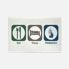 Eat Sleep Pediatrics Rectangle Magnet