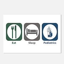 Eat Sleep Pediatrics Postcards (Package of 8)