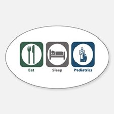 Eat Sleep Pediatrics Oval Decal