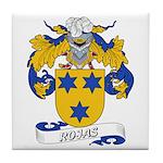Rojas Family Crest Tile Coaster