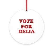 Vote for DELIA Ornament (Round)