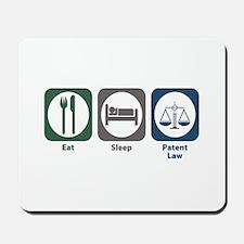 Eat Sleep Patent Law Mousepad
