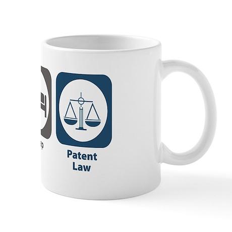Eat Sleep Patent Law Mug