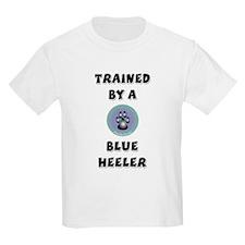 Trained by a Blue Heeler Kids T-Shirt