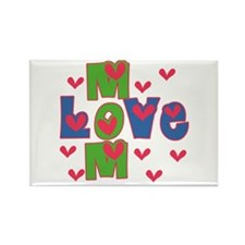 Love Mom Mother's Day Rectangle Magnet