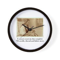 Needle, Thread and Fabric - S Wall Clock