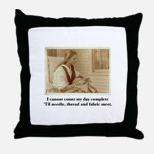 Needle, Thread and Fabric - S Throw Pillow