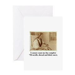 Needle, Thread and Fabric - S Greeting Card