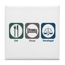 Eat Sleep Paralegal Tile Coaster