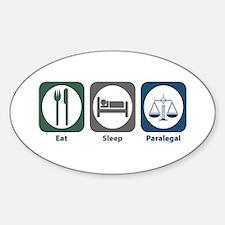 Eat Sleep Paralegal Oval Decal