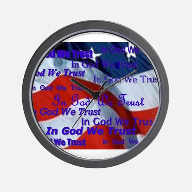 Cute God we trust Wall Clock