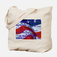 Cute God we trust Tote Bag