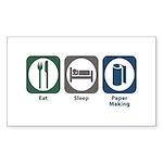 Eat Sleep Paper Making Rectangle Sticker 10 pk)