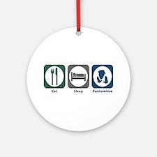 Eat Sleep Pantomime Ornament (Round)
