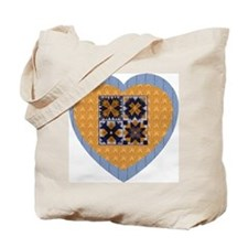 Quilt Heart Tote Bag
