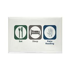Eat Sleep Palm Reading Rectangle Magnet