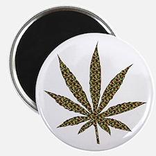 Camouflage Weed Leaf Magnet